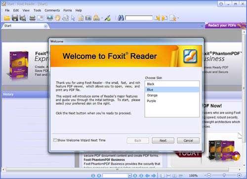 ابزار قدرتمند مشاهده PDF + پرتابل، Foxit Reader 6.0.2.0407