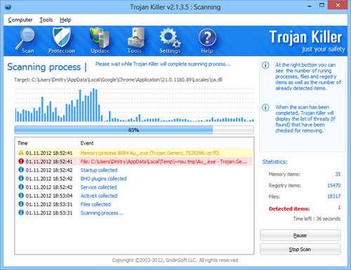 ضد تروجان، Trojan Killer 2.1.5.4
