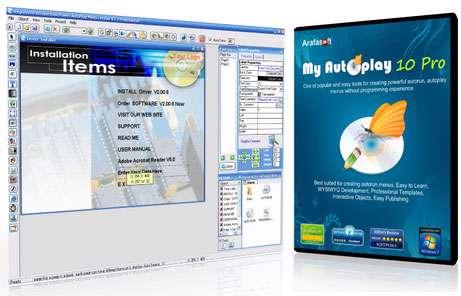 طراحی و ساخت حرفه ای اتوران، My Autoplay Professional v10.1 Build 28012013D