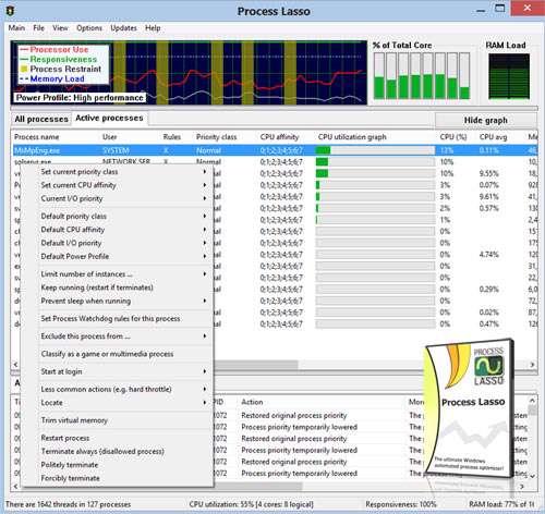 افزایش سرعت رایانه، Process Lasso Pro 6.5.0.0 Final