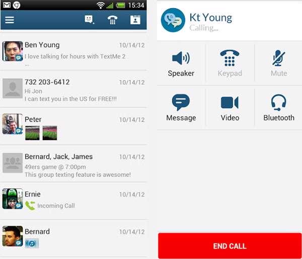 تماس صوتی و تصویری رایگان نسخه اندروید، Text Me Free Texting & Call v2.0.18