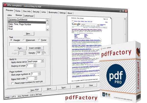 ساخت فایل پیدیاف، FinePrint pdfFactory PRO 4.80 Final