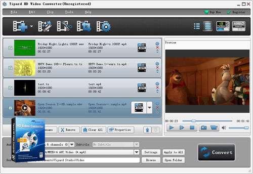 مبدل فایلهای ویدیویی HD به همراه نسخه قابل حمل، Tipard HD Video Converter 6.1.52