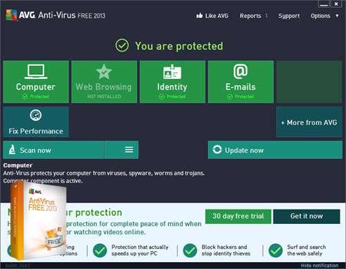 آنتی ویروس رایگان ای وی جی، AVG Anti-Virus Free  2016 Build 7538