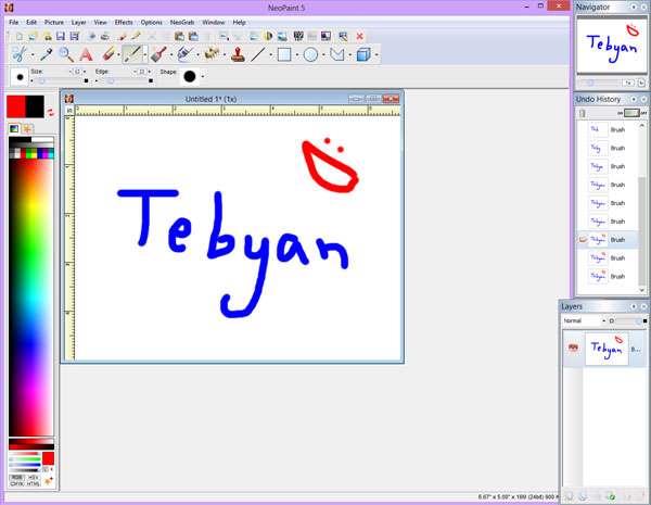 لذت نقاشی در ویندوز، NeoPaint 5.0.2