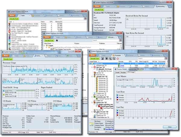 نمایش اطلاعات رایانه + پرتابل، System Explorer 4.1.0