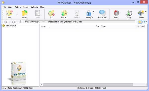 ساخت و مدیریت قدرتمند فایل های فشرده، WinArchiver 3.2