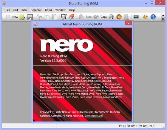 ابزار قدرتمند رایت لوح فشرده، Nero Burning ROM & Nero Express 12.5.6000