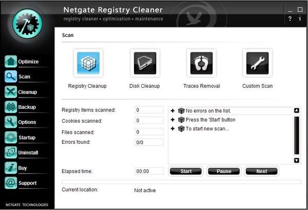 پاکسازی رجیستری، NETGATE Registry Cleaner 5.0.305.0