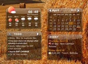 وضعیت آب و هوا و تقویم در دسکتاپ، Desktop iCalendar 2.0.0.218