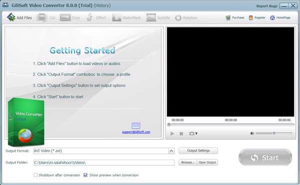 تبدیل فایل های ویدیویی، GiliSoft Video Converter 8.0.0