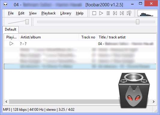 پلیر صوتی قدرتمند و سریع، foobar2000 1.2.5 Final