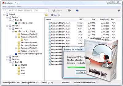 بازیابی اطلاعات سی دی های خش دار + پرتابل، IsoBuster Pro 3.2 Final