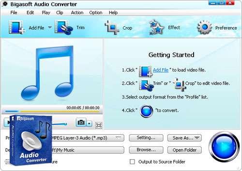 مبدل فایل های صوتی، Bigasoft Audio Converter 3.7.42.4878