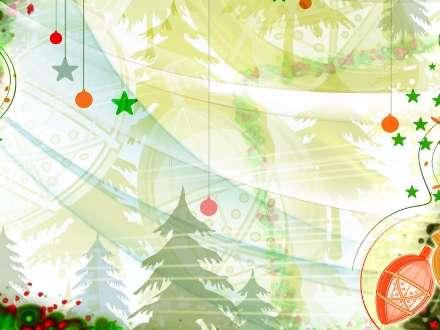 نقاشی دیجیتال از جنگل کاج