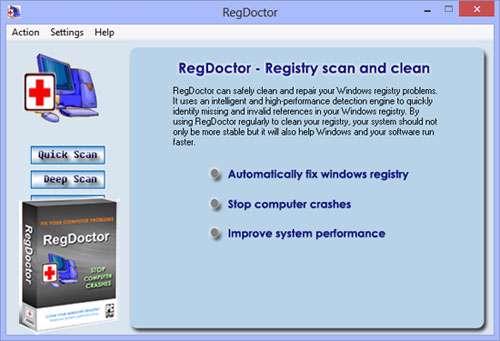 بهینه سازی رجیستری و رفع خطاهای ویندوز + پرتابل، RegDoctor 2.37