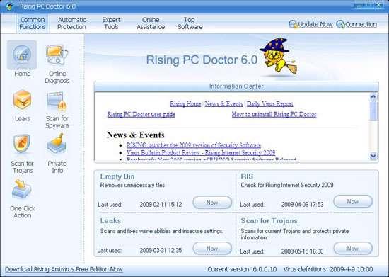 محافظت از رایانه، Rising PC Doctor 6.0.5.88