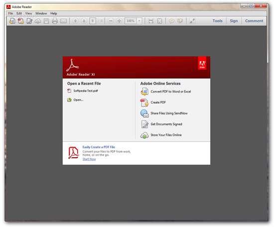 مشاهده و مرور فایل های پی دی اف، Adobe Reader XI 11.0.03