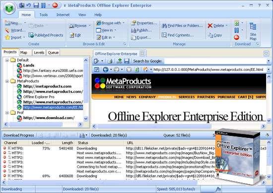 دانلود و ذخیره سایت+فارسی ساز+پرتابل، Offline Explorer Enterprise 6.6.3944 SR1