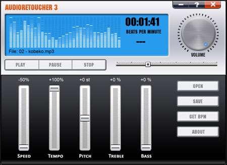 تنظیم زیر و بم فایل های صوتی، Abyssmedia AudioRetoucher 3.9.1.0