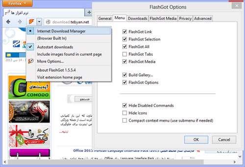 افزونه مدیریت دانلود در فایرفاكس، FlashGot 1.5.5.4