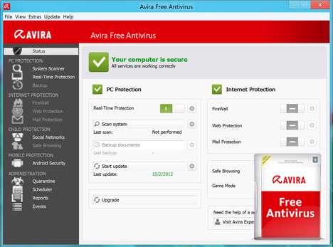 آنتی ویروس رایگان آویرا، Avira Free Antivirus 2013 13.0.0.3499 Final