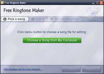 ساخت رینگتون دلخواه برای تلفن همراه، Free Ringtone Maker 2.4.0.1211