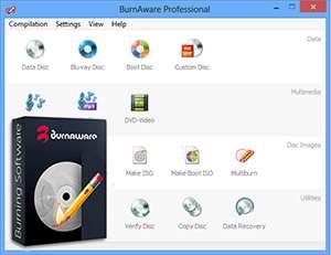 ابزار رایت سبک و قوی + پرتابل، BurnAware Professional 6.3