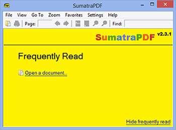 نمایش فایل های PDF + پرتابل، Sumatra PDF 2.3.1 Final