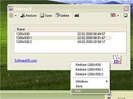 موقعیت دهی آیکون های دسکتاپ، DesktopOK 3.56