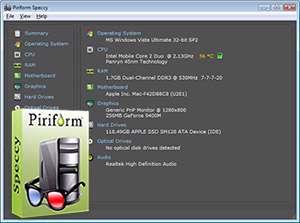 نمایش اطلاعات رایانه + پرتابل، Speccy 1.22.535
