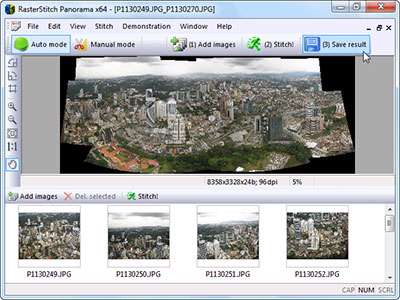 ساخت تصاویر پانوراما، RasterStitch Panorama 3.30 Retail