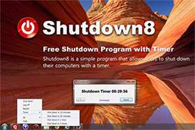 خاموش کردن سریع رایانه + پرتابل، Shutdown8 1.05 Final