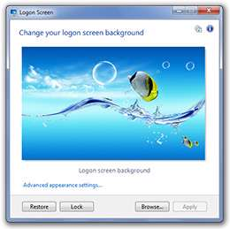 تغییر عکس صفحه لاگین ویندوز 7، Logon Screen 2.56