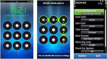 قفل کردن گوشی سیمبیان به سبک اندروید، MazeLock 2.0.0