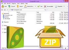 فشرده ساز رایگان فایل ها + پرتابل، PeaZip 5.0 Final