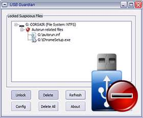 اسکن و حذف ویروس های فلش، USB Guardian 3.2