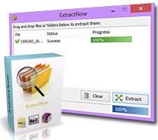 بازکردن فایل های فشرده و آرشیو + پرتابل، ExtractNow 4.8.0.0