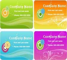 تصاویر وکتور کارت ویزیت تجاری (Card Template)