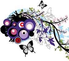 تصاویر برداری و وکتور گل دار (Floral Design )