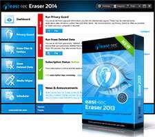 حذف اثرات فعالیت های روزانه، East-Tec Eraser 2013 10.2.4.100