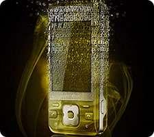 خلق یک گوشی تلفن طلایی تکه تکه شده