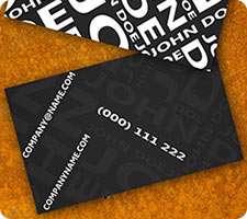 طرح لایه باز کارت ویزیت مدرن سیاه رنگ (Black Modern Biz Card)