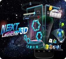 لانچر قدرتمند و سه بعدی در اندروید، Next Launcher 3D Shell 3.7.3.2