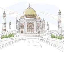 مجموعه 40 تصویر نقاشی زیبا و با کیفیت از بناهای مشهور