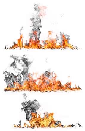 شعله های آتش