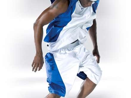 پیراهن ورزشی سفید و آبی