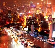مجموعه 20 عکس از شهر های شلوغ در شب