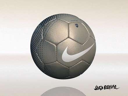 توپ فوتبال نقره ای نایکی