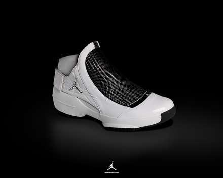 کفش بسکتبال سیاه و سفید